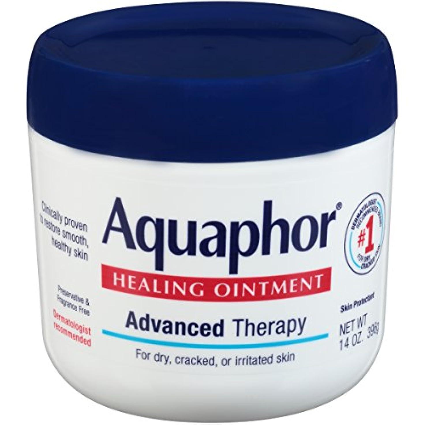 木製コンパクト害虫海外直送品Aquaphor Advanced Therapy Healing Ointment, 14 oz by Aquaphor