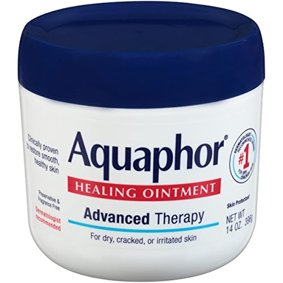 コンチネンタル可動式発揮する海外直送品Aquaphor Advanced Therapy Healing Ointment, 14 oz by Aquaphor
