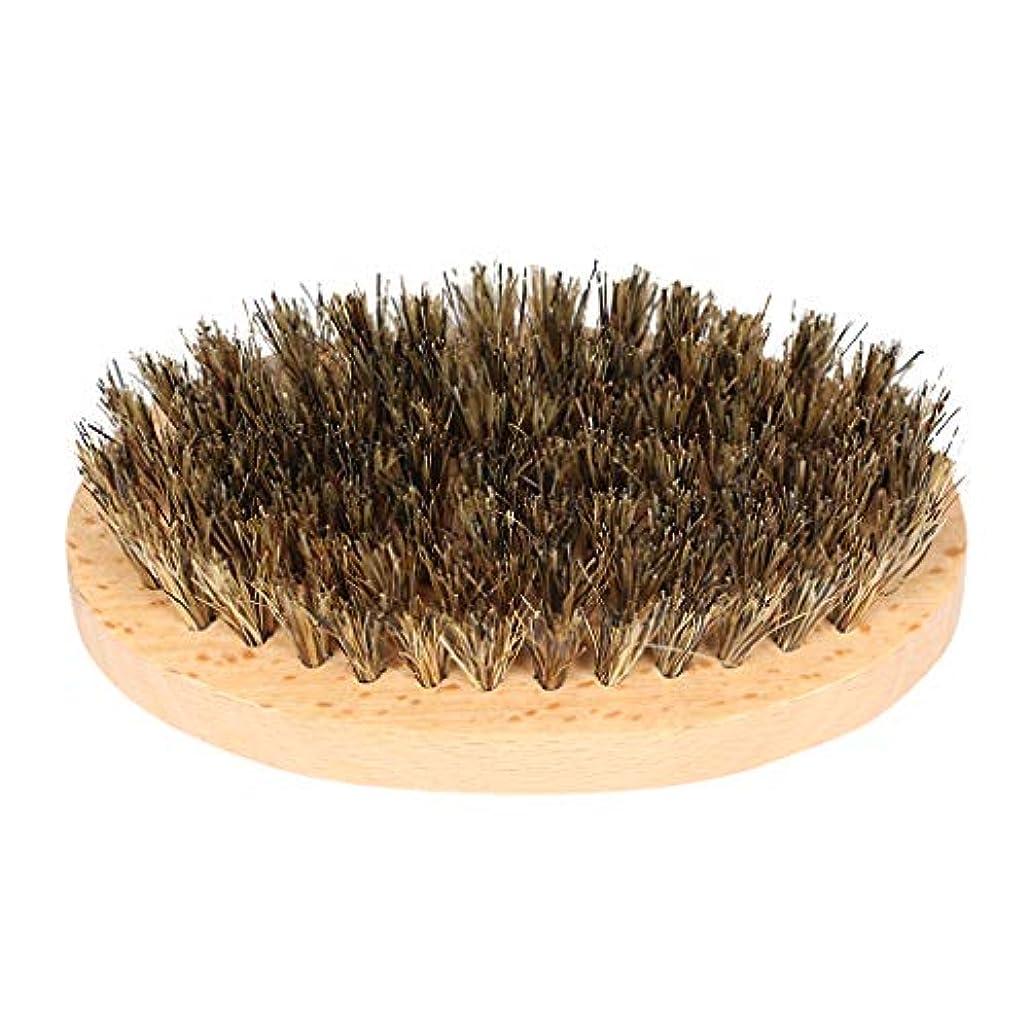 コンクリートキャメル昆虫を見る理髪店の男性の天然木のひげの口ひげ顔の髪のブラシ毛髪のブラシ