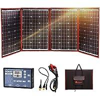DOKIO 200w 折りたたみ式 単結晶 ソーラーパネル(太陽光パネル)12v自作のソーラー発電(太陽光発電)に最適な小型・家庭用太陽パネル(太陽電池), USB(18V)出力端子