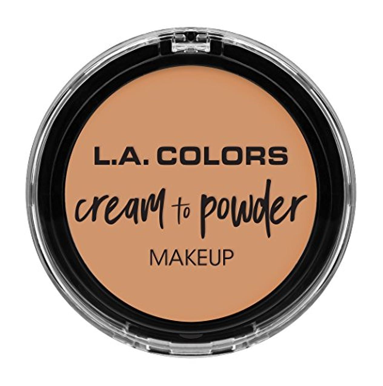 治療政治的自然L.A. COLORS Cream To Powder Foundation - Natural (並行輸入品)
