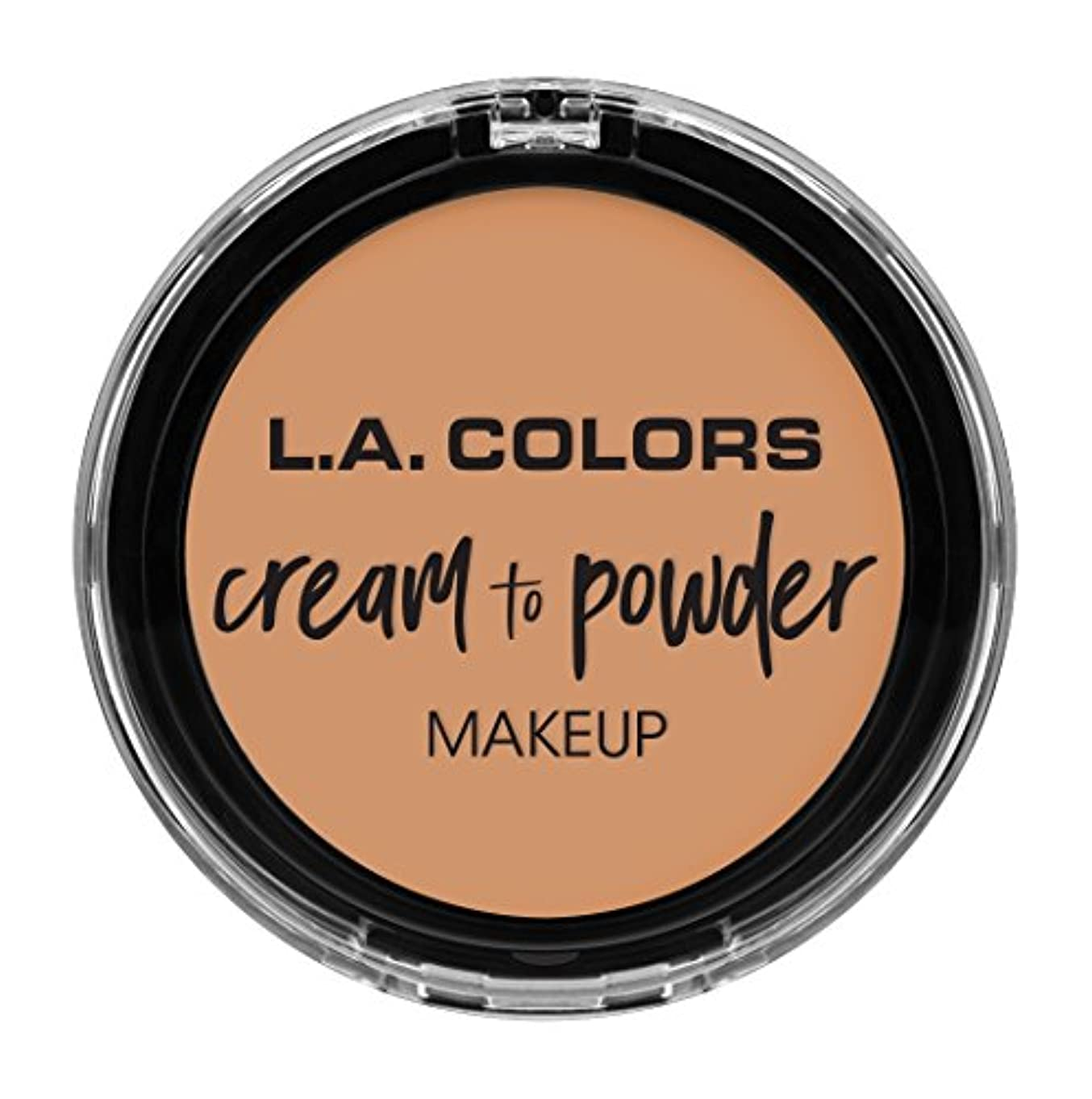 モジュール入射以上L.A. COLORS Cream To Powder Foundation - Natural (並行輸入品)