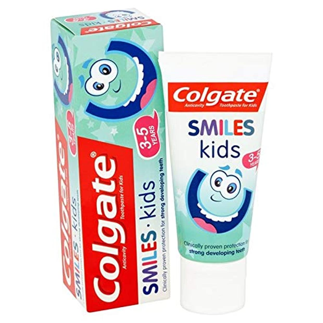 囚人リットルバックアップ[Colgate ] コルゲートは、子供の3~5年の歯磨き粉50ミリリットルを笑顔 - Colgate Smiles Kids 3-5 years Toothpaste 50ml [並行輸入品]