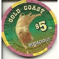 $ 5 Gold Coast BodaciousラスベガスLegendsカジノチップSuper Rare