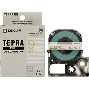 キングジム テープカートリッジ テプラPRO ST9Z  透明 金文字