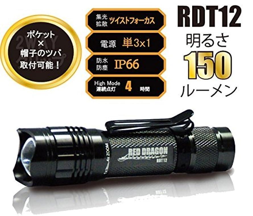 栄光冗長不当RED DRAGON(レッドドラゴン) LEDヘッドライト 150ルーメン RDT-12