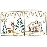 クリスマス 屋外用 2Dイルミネーション ガーデンモチーフ トナカイ&ハウス