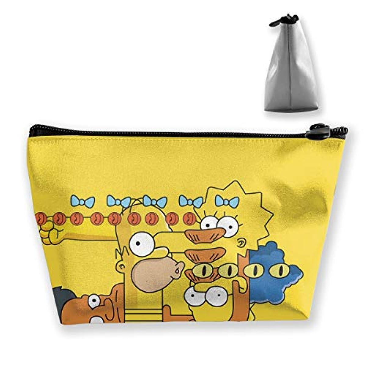 援助するコンテンツストライプDSM_TXSND ザ シンプソンズ Simpsons 化粧ポーチ ポーチ 小物入れ 多機能コスメポーチ メイクポーチ 化粧バッグ 化粧品 コスメ収納 便利 収納ポーチ 旅行用 収納ケース 化粧ポーチ