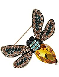 Ruikey ファッション 動物の蜂ブローチピン 可愛い おしゃれ アクセサリー プレゼント 贈り物 メンズ レディース 子供 ジュエリー 合金(イエロー)