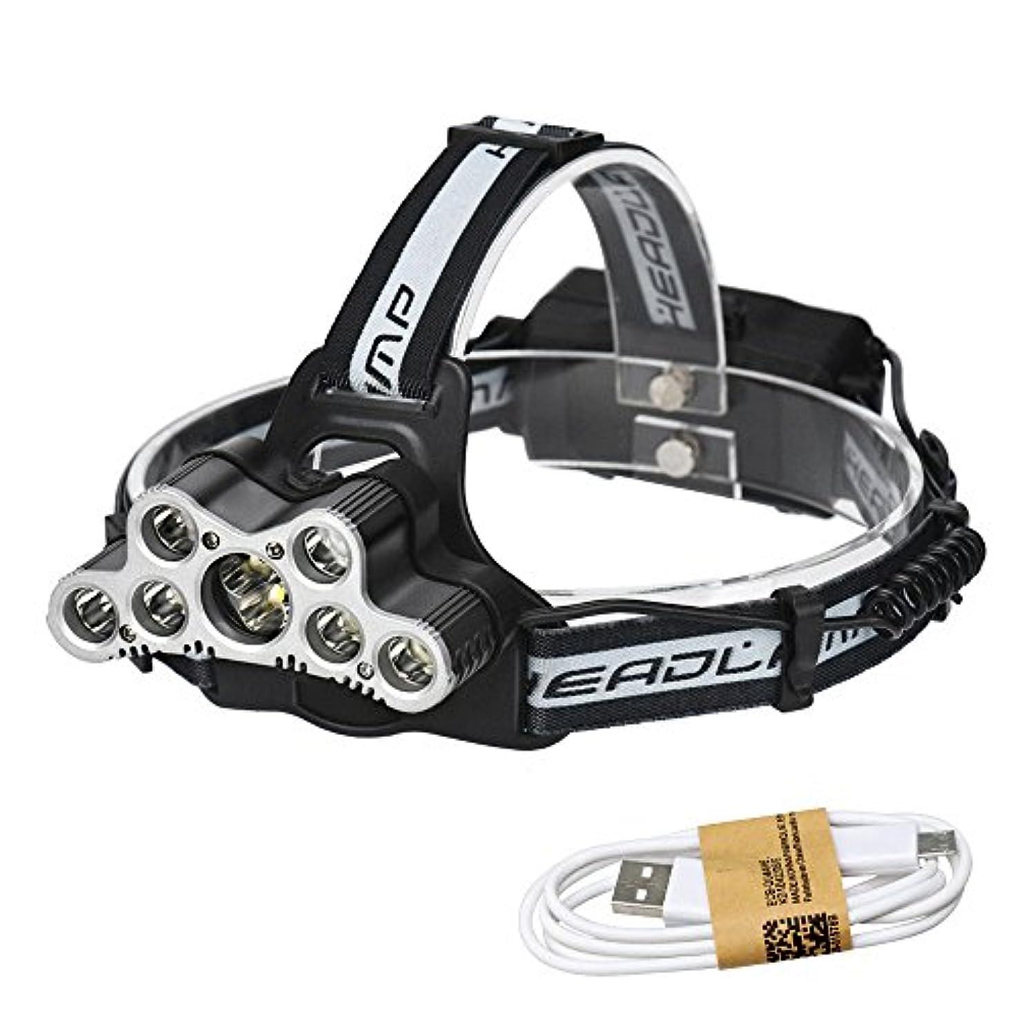中国教義確認してくださいスーパーブライト 9 LEDヘッドランプヘッドライト照明ヘッドランプキャンプライト釣り懐中電灯トーチ充電式18650バッテリー