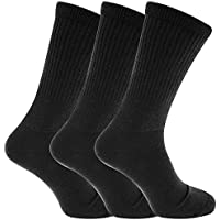 Mens Extra Wide Comfort Fit Wide Feet Diabetic Socks (3 Pairs)