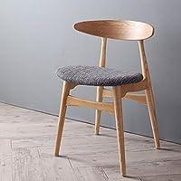 【商品名】天然木 北欧デザイン ダイニングチェア CNL  シンプル ナチュラル ファブリックチェア カフェチェア パーソナルチェア 1P チェア 食卓椅子 北欧スタイル【サイズ】幅52×奥行55×高さ73×座面高46cm MK (チャコールグレイ)