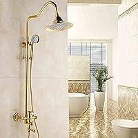 浴室のシャワーセット 新しいレトロヨーロッパスタイルの蛇口のシャワーアンティークのシャワースーツ