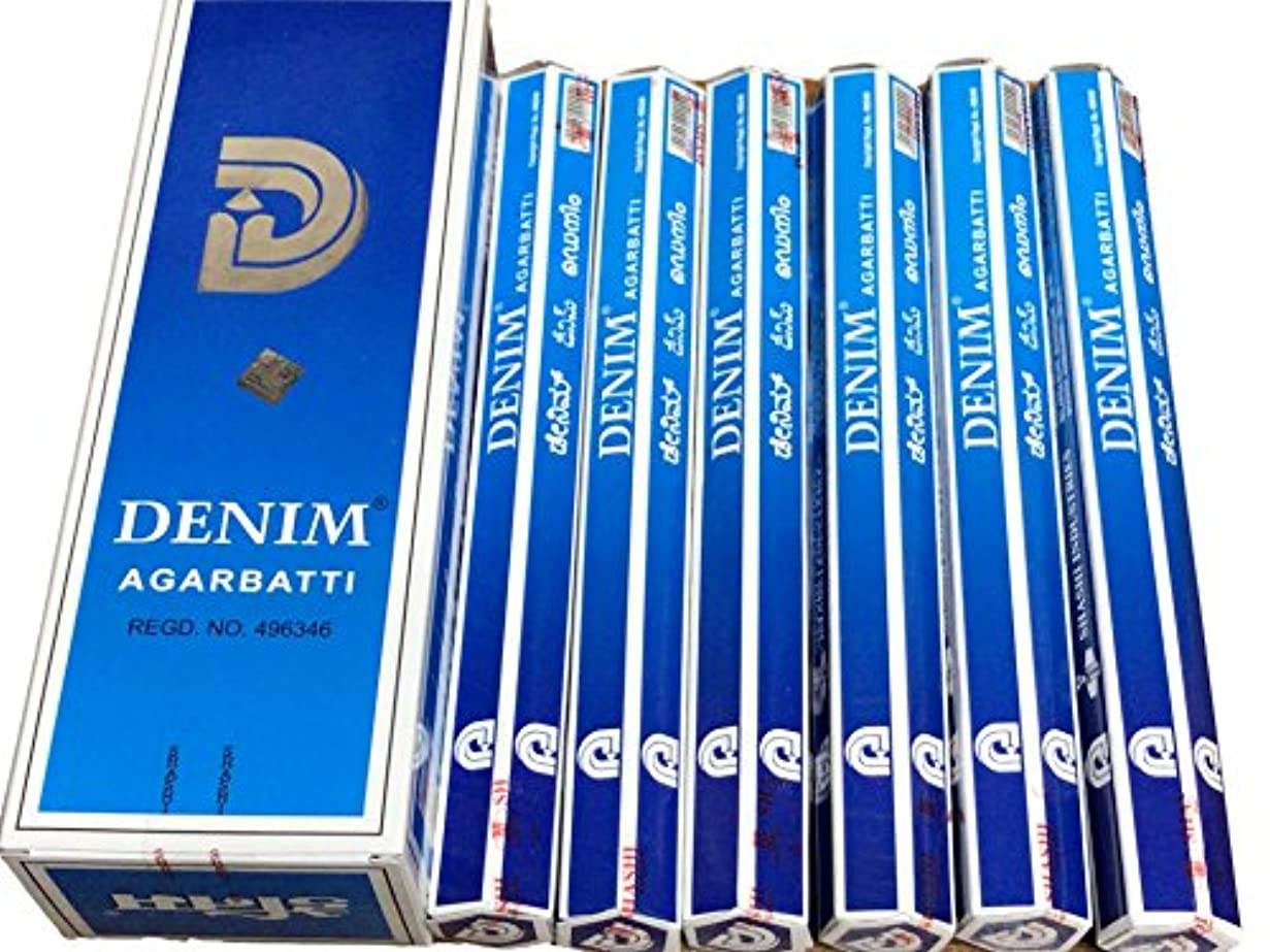 約束するバックアップペチュランスSHASHI シャシ デニム DENIM デニム ステック お香 6本 セット