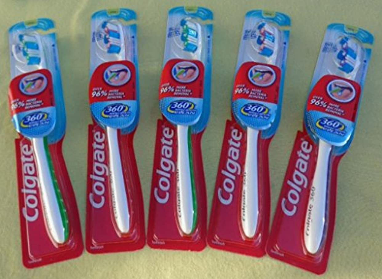 Colgate 360完全な頭部歯ブラシ、18のパック