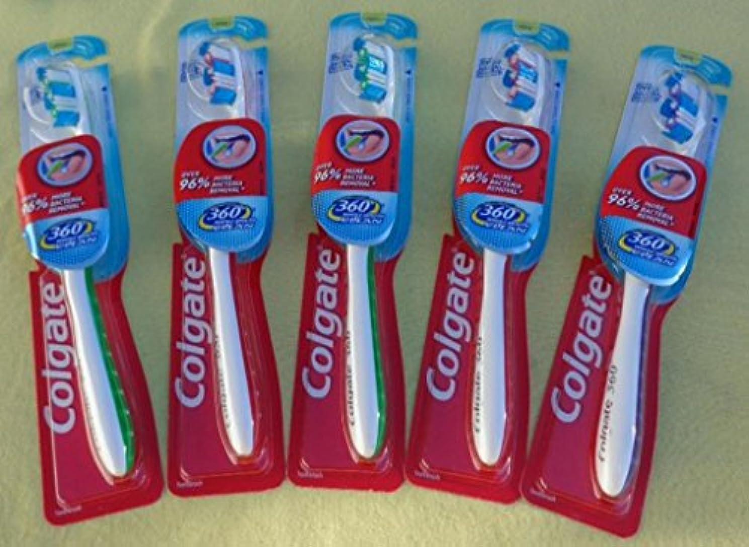 どこ有害権威Colgate 360完全な頭部歯ブラシ、18のパック
