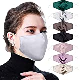 6 & 10 Pack Silk Face Mask for Women Wedding Party,Washable,Reusable & Breathable Mulberry Fashion Silk Face Masks