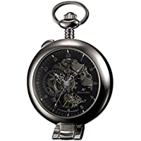 KS Half Hunter Men's Hand Wind Mechanical Pocket Watch