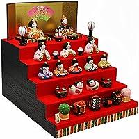 錦彩華みやび雛(五段飾り) 陶器 雛人形 ひな人形 ミニつるし飾り特典付オリジナル雛人形 雛 ミニ 雛飾り 初節句 雛まつり