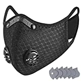 Dust Mask -SleeBas Reusable Breathing Mask Activated Carbon Dustproof Respirator Safety Mask with Extra Carbon N99 Filters for Pollution Pollen Allergy Woodworking,Running,Cycling,Outdoor Activities
