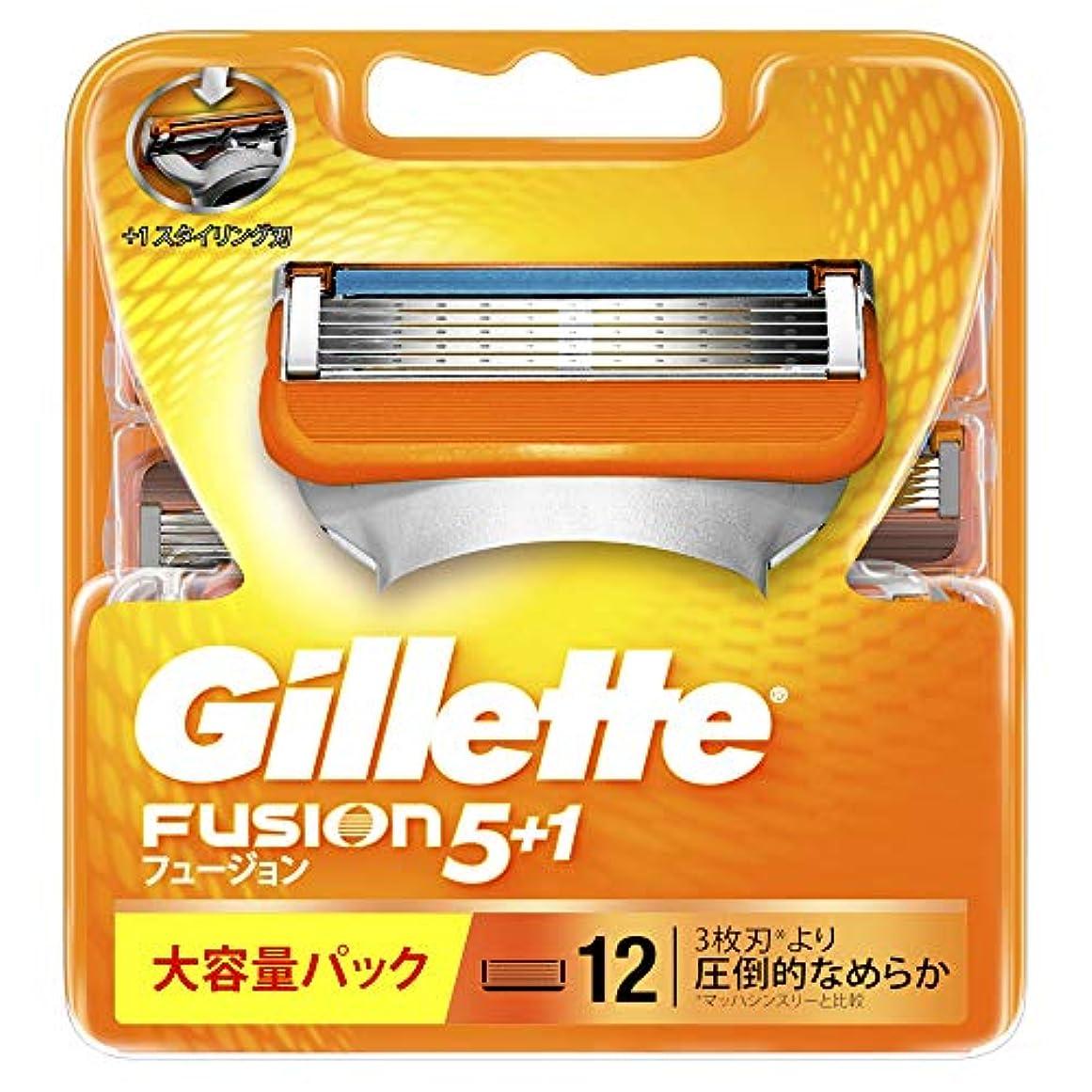 マスタードタンカーどんよりしたジレット フュージョン5+1 マニュアル 髭剃り 替刃 単品 12コ入