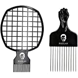Magic Hair Coils Tool, Afro Pick Twist Hair Curl Sponge Brush, Twist Afro Natural Hair Comb (Black) [並行輸入品]