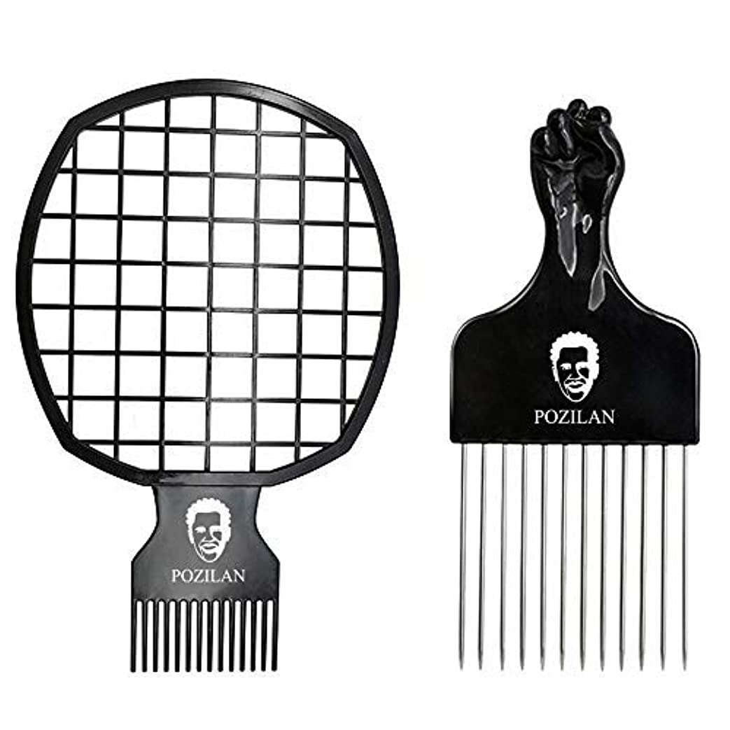 課税追跡バリーMagic Hair Coils Tool, Afro Pick Twist Hair Curl Sponge Brush, Twist Afro Natural Hair Comb (Black) [並行輸入品]