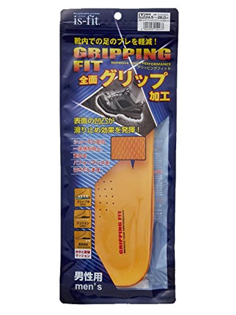 一瞬入るギャザーis-fit グリッピングフィット インソール 男性用 L 26.5~28.0cm