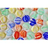 OHAJIKI ~Japanese Traditional Flat Glass Marbles~ 9.2 oz (Contains 130~135 Pieces/Bag) 日本製 おはじき