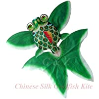 LargeグリーンChinese Gold Fish Kite with Gift Box