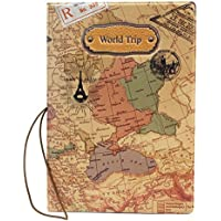 New PU Leather World Map Passport Cover