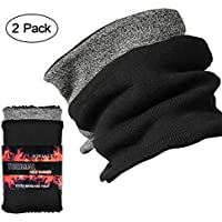 Jormatt 2 Pack Thick Neck Warmers Fleece Heat Insulated Thermal Neck Gaiters Unisex Winter