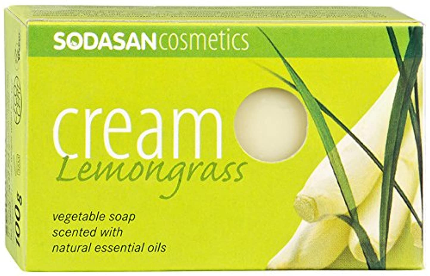 芽特性症候群ソーダサン クリームソープ フェイス ボディ用 オーガニック レモングラス