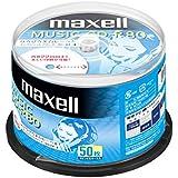 maxell 音楽用CD-R 80分 1回録音用 インクジェットプリンタ対応ホワイト(ワイド印刷) 50枚 スピンドルケース入  CDRA80WP.50SPZ