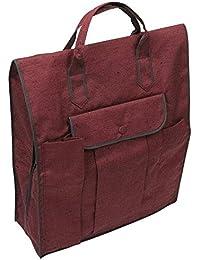 (キョウエツ) KYOETSU 日本製 きものパック 藤 和装バッグ つむぎ織り 手提げ 縦長 無地風