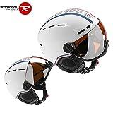 ROSSIGNOL(ロシニョール)スキー ヘルメット VISOR - SINGLE LENSE WHITE RKFH201