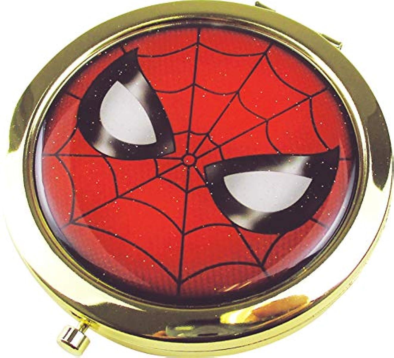 七時半不適当周囲ティーズファクトリー スパイダーマン 6.6×6.6×0.8cm マーベル Wコンパクトミラー MV-5537088SM