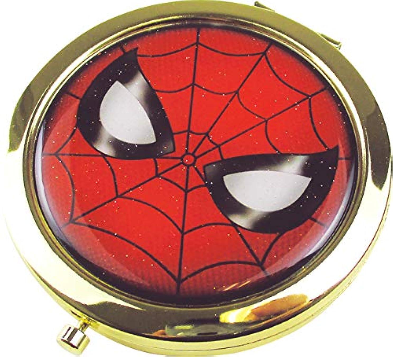 旅行者ブランドディレイティーズファクトリー Wコンパクトミラー マーベル スパイダーマン 6.6×6.6×0.8cm MV-5537088SM