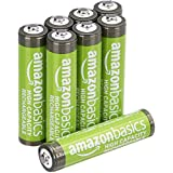 AmazonBasics AAA High-Capacity Rechargeable Batteries (8-Pack) Pre-charged, Packaging May Vary