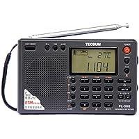 Tecsun PL-380 (日本語版取扱説明書)PLL ポータブルラジオFM ステレオ/LW/SW/MW DSP ETM USB レシーバー (PL-380 black)