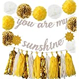 You Are My Sunshine パーティーデコレーション イエロー 誕生日パーティー装飾 You Are My Sunshine バナー You Are My Sunshine 誕生日 母の日 デコレーション 誕生日バナー 保育園 ベビーシャワー