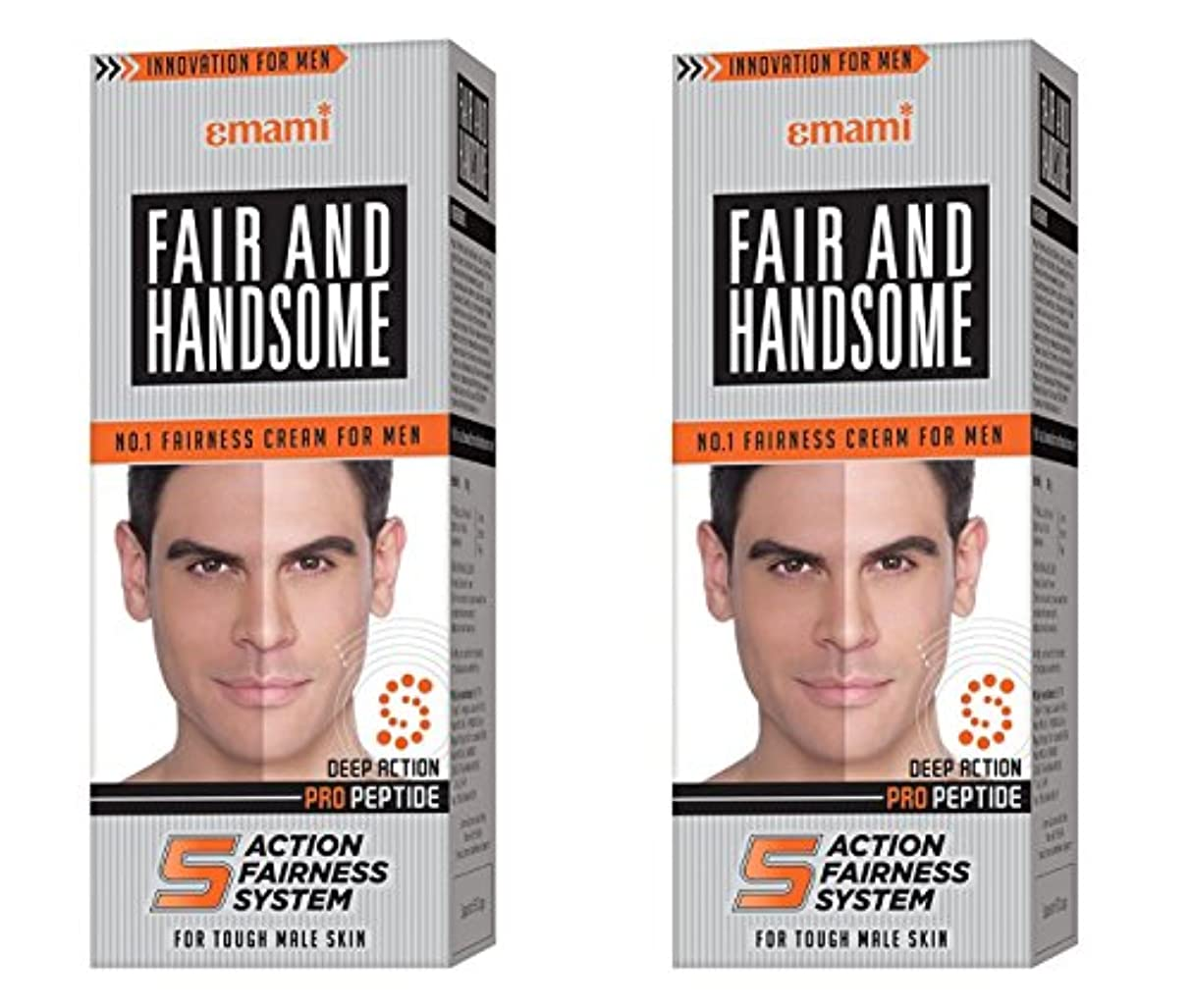 援助する求める杭Fair and Handsome Fairness Cream for Men, 60gm (Pack of 2)