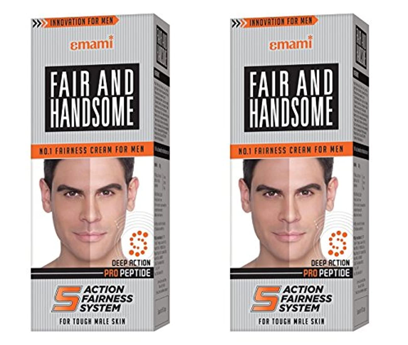 調整スーパー女優Fair and Handsome Fairness Cream for Men, 60gm (Pack of 2)