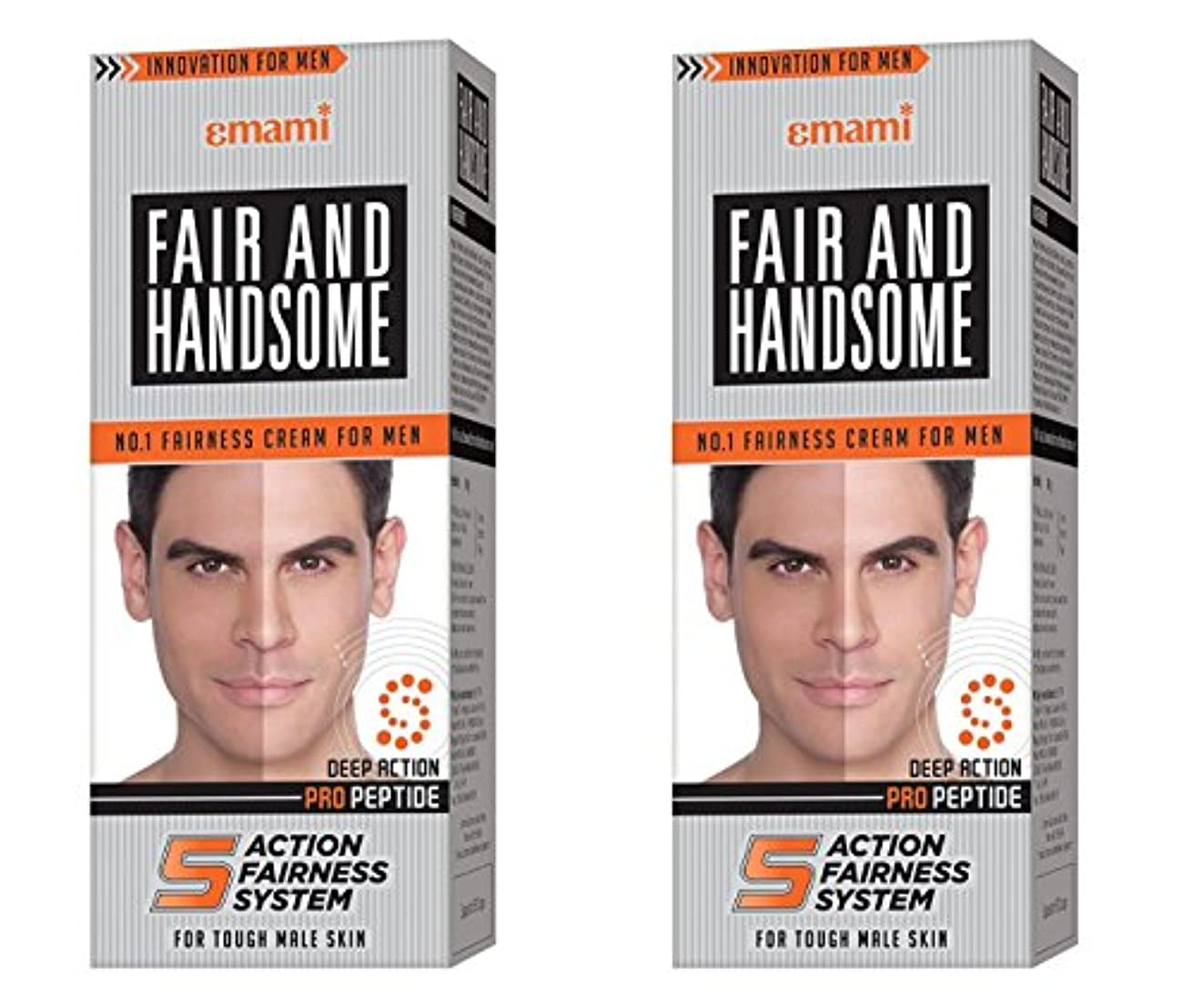シェードフォーマル表面Fair and Handsome Fairness Cream for Men, 60gm (Pack of 2)