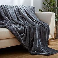 贅沢な シェルパ フリース 毛布 元に戻せる状態 フランネル スーパー ソフト ベッド スロー 暖かい マイクロファイバー ぬいぐるみ ソファ 毛布 オール シーズン用-C 200 * 230cm