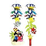 七夕装飾 たなばた祭ランタン2個セット H52cm 29246