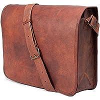 """Jaald 13"""" Laptop Bag Genuine Leather Messenger Bag School Shoulder Bag for Men"""