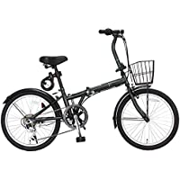 JEFFERYS(ジェフリーズ) AMADEUS 20インチ 折りたたみ自転車 FDB206 シマノ6段変速 前後泥除け/カゴ/LEDライト/ワイヤーロック標準装備 JP8572