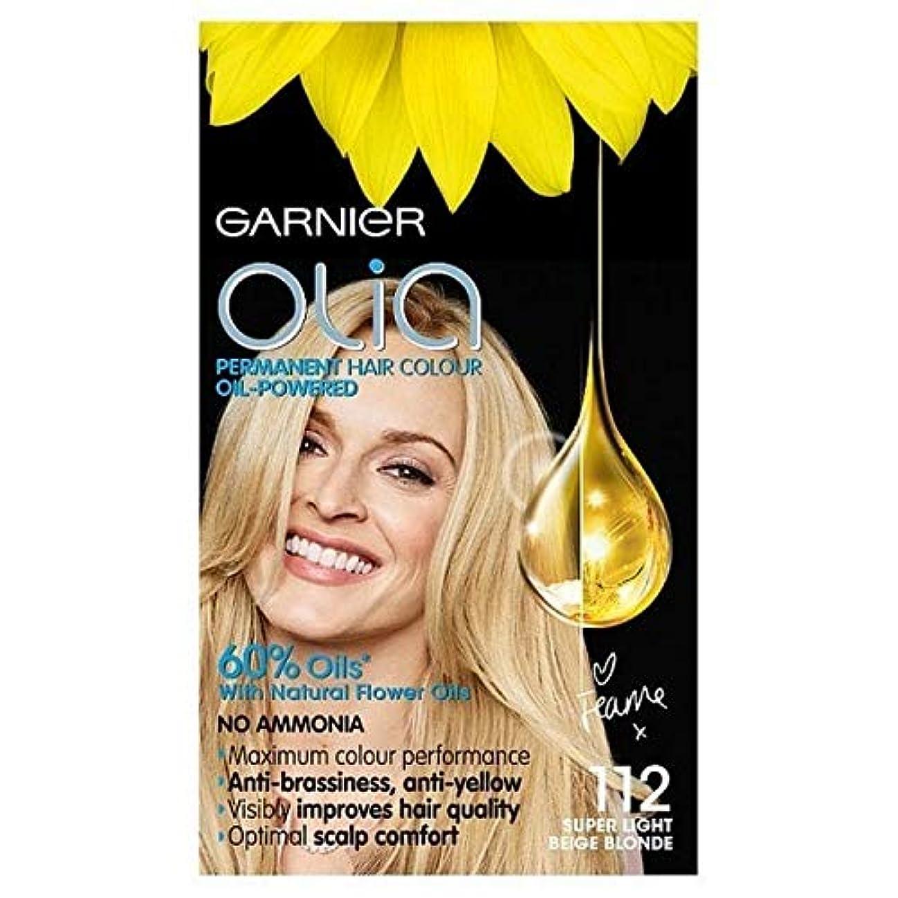 ピザ花束うまくやる()[Garnier ] ガルニエのOlia永久染毛剤スーパーライトベージュブロンド112 - Garnier Olia Permanent Hair Dye Super Light Beige Blonde 112 [並行輸入品]