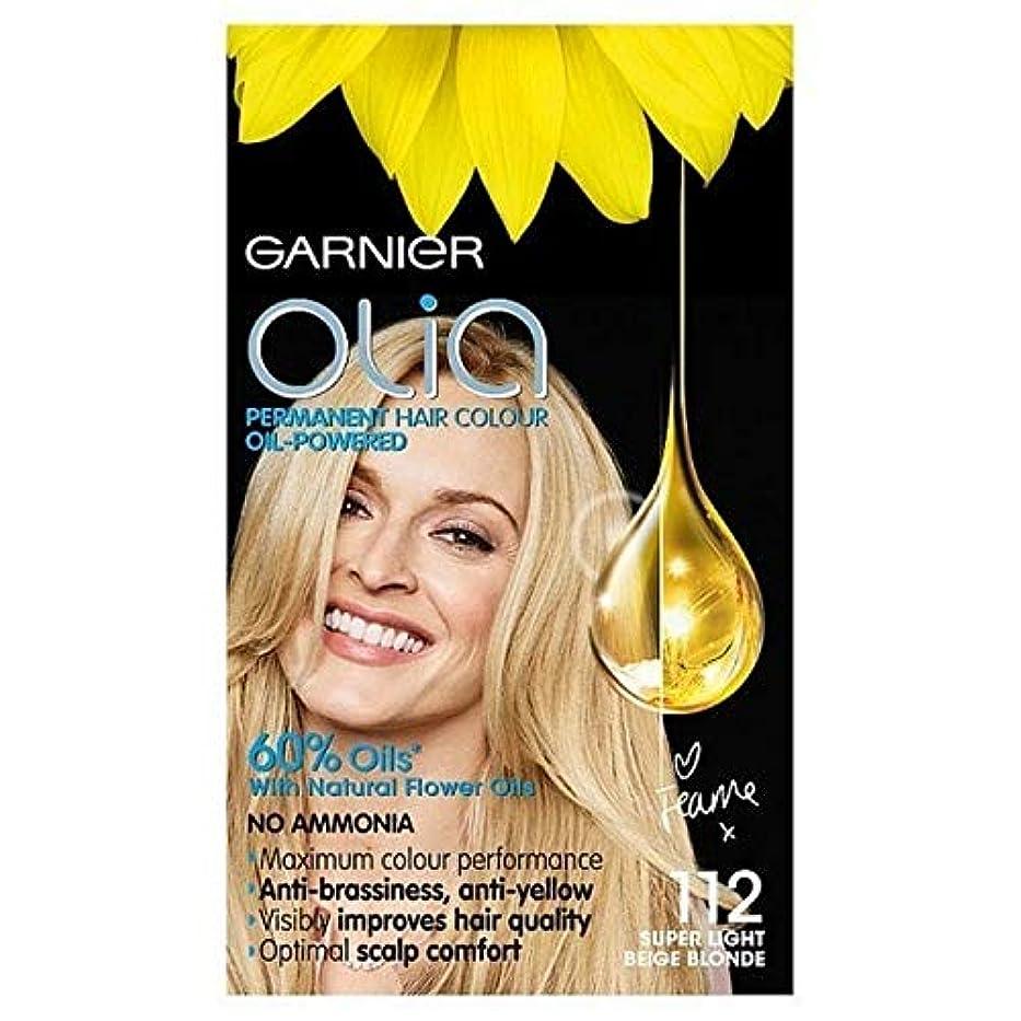 写真の週間泣く[Garnier ] ガルニエのOlia永久染毛剤スーパーライトベージュブロンド112 - Garnier Olia Permanent Hair Dye Super Light Beige Blonde 112 [並行輸入品]